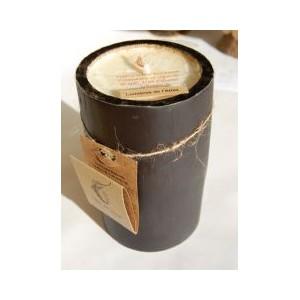 Bougie Bambou noir, cire de soja bio 13cm, senteur Lumière Atlas
