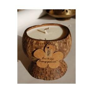 Bougie Noix de Coco cire de soja bio senteur Frangipagnier (4%)