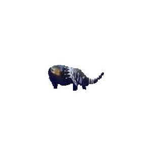 Animal en gypse noir : Eléphant