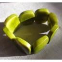 Bracelet en Tagua vert