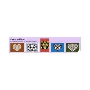 Carte de vœux Cœur (5 motifs)