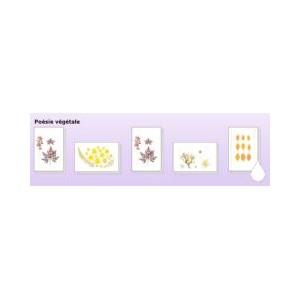 Carte de vœux Poésie végetale ( 5 motifs)