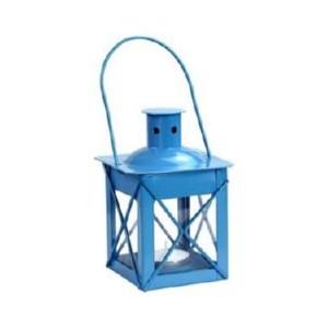 Lanterne de table couleur bleu