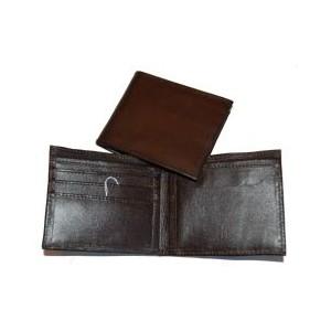 Portefeuille cuir et coton